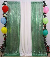 Light Green Christmas Sequin Curtain 4FTx8FT Sequin Backdrop Curtains for Photo Booth Glitter Wedding Photobooth Decorations M