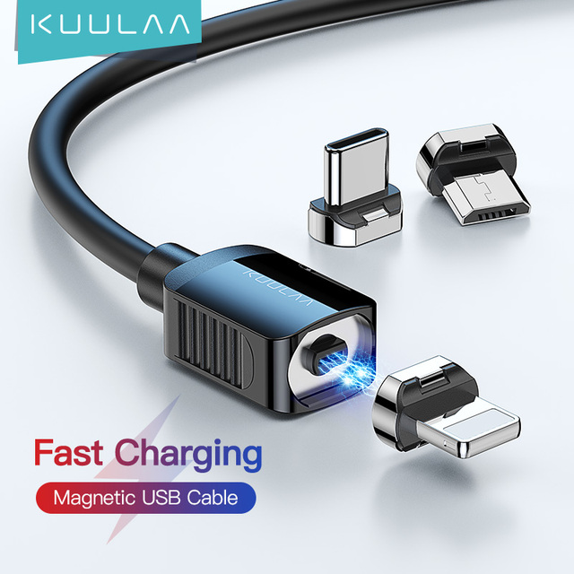KUULAA Magnetic Cable USB Type C Cord Micro USB C Cable For iPhone Xiaomi Samsung Magnet Phone Charging Cord USBC Wire 1