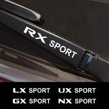 Autocollants d'essuie-glace en Film vinyle, 4 pièces, pour Lexus RX 300 IS 250 GX 400 UX 200 NX LX LS GS ES CT200h Fsport, accessoires automobiles