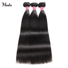 Meetu Malaysian Straight Hair Bundles 8 28 inch 100 Human Hair Extensions 3 Bundles Deal Non