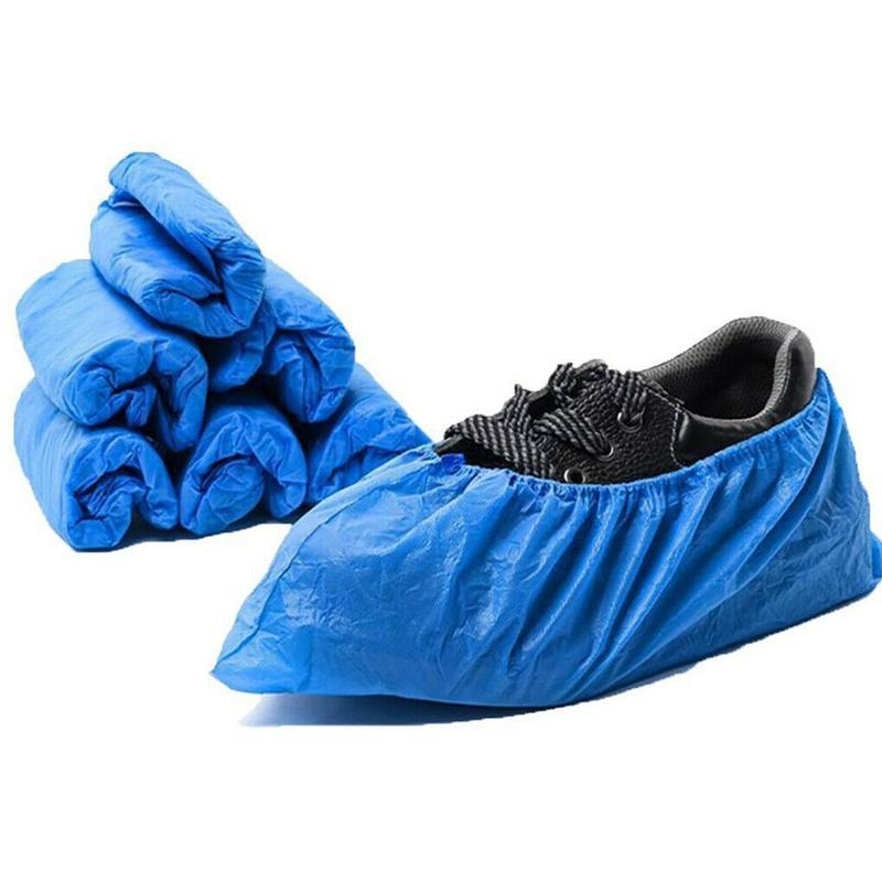 Plastic Waterproof Disposable Shoe Covers Rainy Day Cleaning Blue Protector Sale Floor Cover Shoe Shoe Hot Cover Q8A7