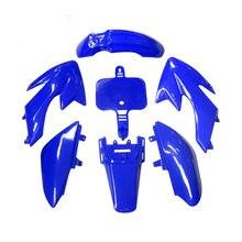 Kits de carrosserie en plastique pour moto Pit bike bleu, pour 50cc, 70cc, 90cc, 110cc, 125cc, 140cc, 150cc, 160cc chinois CRF XR CRF50 XR50