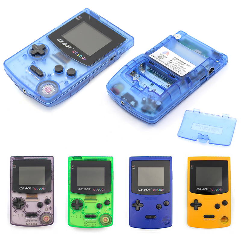 GB Boy Colour Color Handheld Game Player 2 7inch Portable Classic Game Console Consoles With Backlit 66 Built-in Game pad