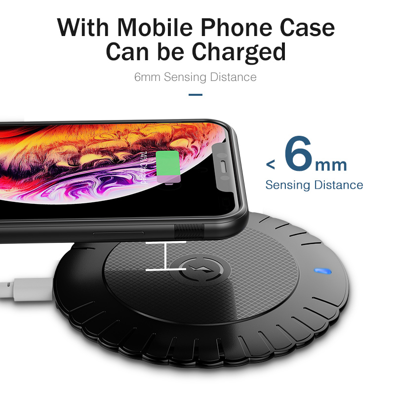 YKZ 10W Wireless Charger for iPhone X XS Max XR 8 Plus Portable Fast Wireless Charging