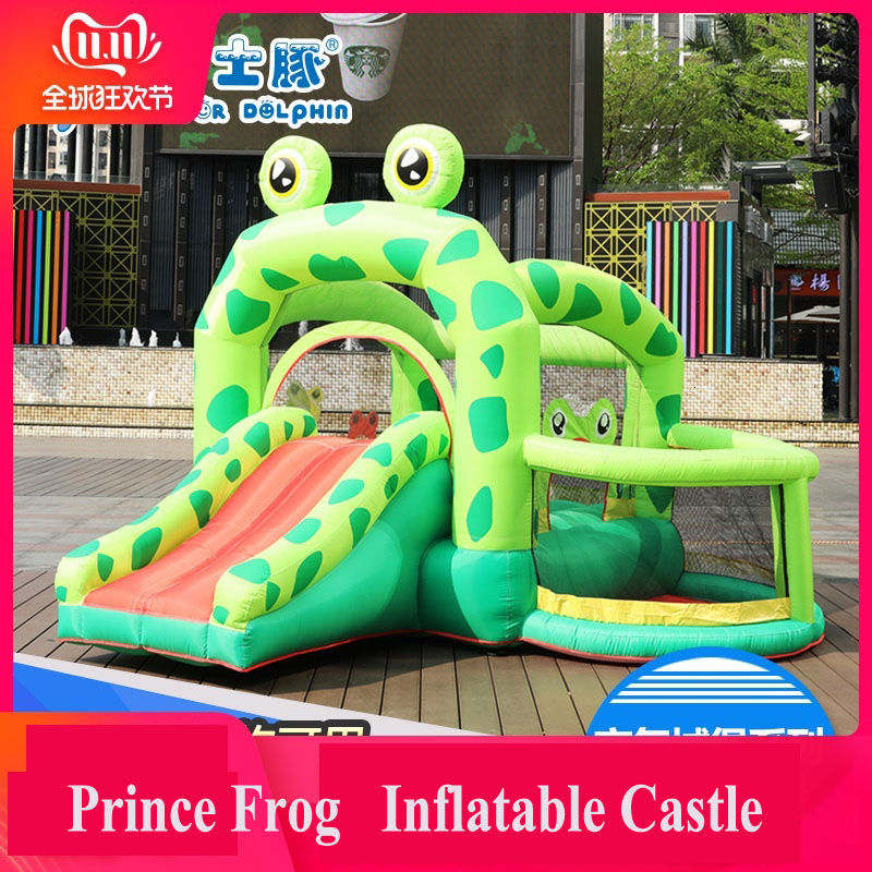 The Frog Prince Children Inflation Castle Doctor Dolphin Household Small-sized Bounce Bed Slippery Ladder Outdoor Amusement Park