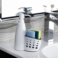 Behogar Liquid Soap Dispenser Bottle Storage Box with Tank Cleaning Sponge Brush Holder Rack Kitchen Bathroom Organizer Gadgets