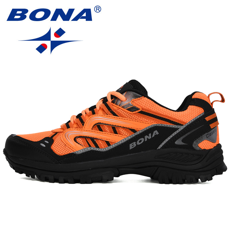 BONA 2020 New Designers Popular Sneakers Hiking Shoes Men Outdoor Trekking Shoes Man Tourism Camping Sports Hunting Shoes Trendy 3