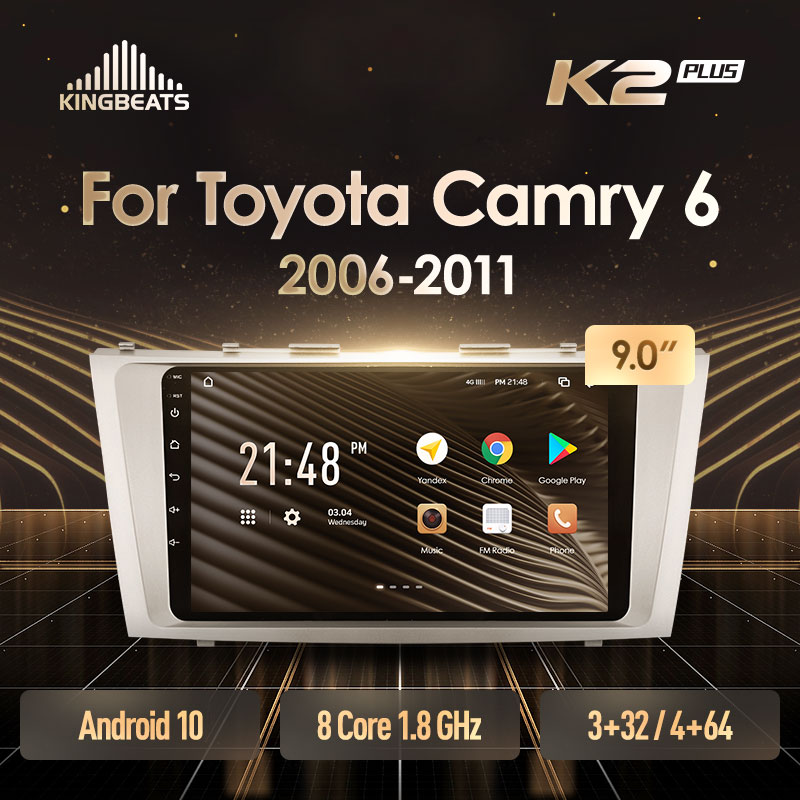 KingBeats штатное головное устройство For Toyota Camry 6 XV 40 50 2006 - 2011 GPS автомагнитола на андроид магнитола For Тойота Камри 6 XV40 XV50 For автомобильная мульти...