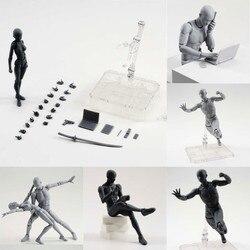 Рисовании фигур для художников фигурку модель человека Манекен мужской женский комплект движимого конечности деревянная игрушечная фигур...