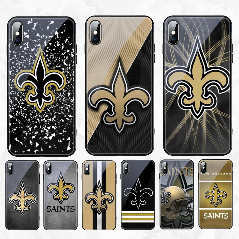 Babaite Babaite New Orleans Saints DIY glass Phone Accessories Case for Apple iPhone 8 7 6 6S Plus X XS MAX XR Cover image