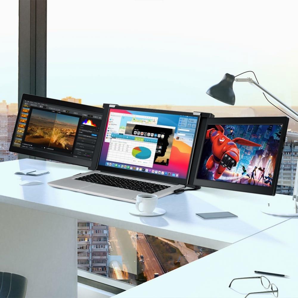 Portable HDMI Dual Gaming Monitor 13.3 Laptop Screens 21