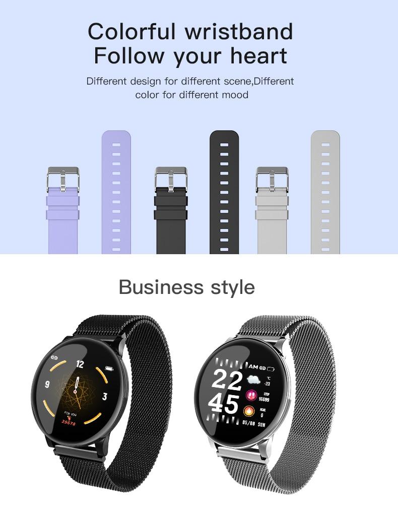 Hdbeb544031d548f08a5b7548fd275280B BINSSAW Couples Smart Watch Kid Heart Rate Blood Pressure Dynamic Fitness Tracker Wearable Electronics Devices Smart Sport Watch