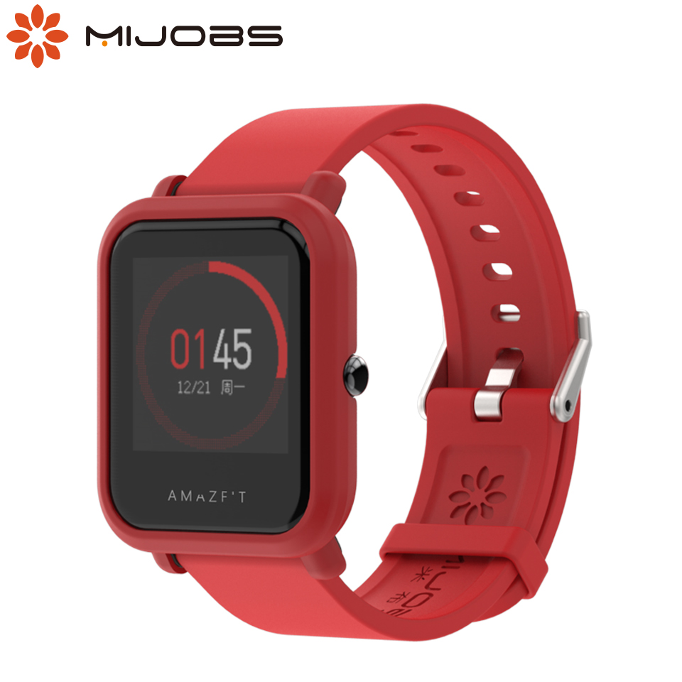 Strap for Amazfit Bip Protector Case Cover for Xiaomi Huami Amazfit Bip BIT PACE Lite Youth Watch Wrist Bracelet PC Shell Bumper