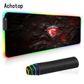 RGB MSI Mouse Pad LED XXL Gamer Anti-slip Rubber Pad Play Mats LED Light Gaming Mouse Pad Gaming for Keyboard Laptop Computer PC