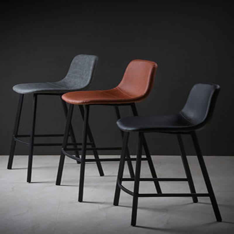 Nordic Bar Stool Stylish Modern Minimalist Bar Chair 5 Colors 65/75 Cm Height Retro Craft Seat High Bench Home Bar Decoration