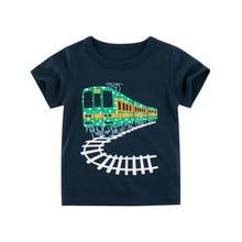 Boys T-Shirt Tracktor Top-Tops Jumpingbaby Summer Roupa Menina Meskie Enfant Koszulka