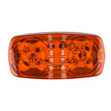Trailer Trucks Amber Red LED Clearance Side Marker Lights Lamp Set Accessories(China)