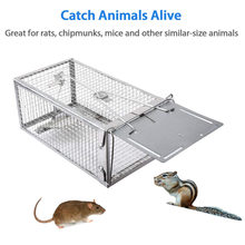 Newly Rat Trap Live Chipmunk Mouse Cage Trap Bait Rodent Repeller Catch for Indoor Outdoor(China)