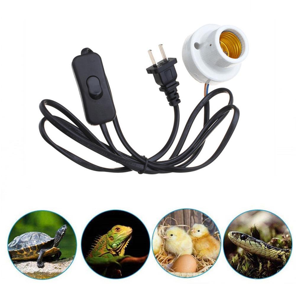 E27 300W Reptile Lamp Socket Holder Porcelain Pet Brooder Turtle Lizard Reptile Heating Lamp Light Socket EU/US Plug