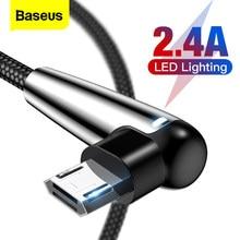 Baseus éclairage Micro USB câble réversible charge rapide Microusb câble pour Samsung A7 2018 Xiaomi Redmi Note 5 chargeur Android