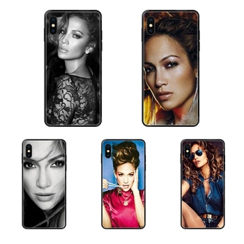 Black Soft TPU Coque Case Capa Usa Pop Star Sexy Jennifer Lopez Pattern For Galaxy A70 A71 A70E A5 A6 A7 A8 A10 A10S A20 A20S image