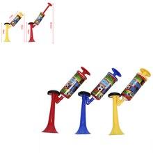 Corne de ballon de football réglable pom-pom girl, trompette en plastique, accessoires de Club de réunion de sport, jouet pour enfant, pompe à main, klaxon à Air