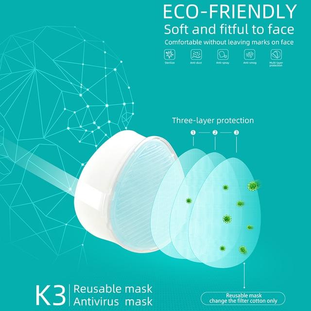K3 Electric Mask Respirator haze PM2.5 / second-hand smoke / air purification / anti-flu PM2.5 Face Mouth Mask 1