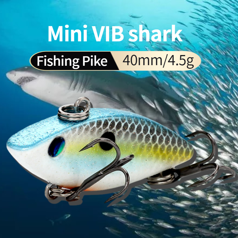 Banshee 40mm 4.5g Crankbait Mini Vib Bait Fishing Lure Lipless Rattle Hard Bait Artificial Sinking Wobbler For Fishing Tackle