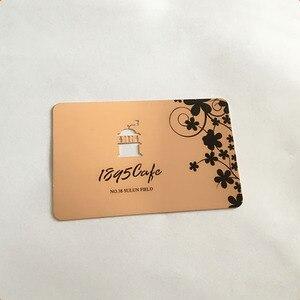 Image 3 - 스테인레스 금속 카드 인쇄 사용자 정의 200 개/몫 구멍 펀치 레이저 컷 회원 카드 무료 배송