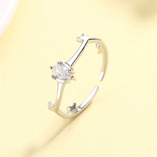 2019 High Quality Engagement Rings Sterling Silver 925 Womens Gift Elk Antler Love Adjustable Finger Ring Crystal Stone Jewelry