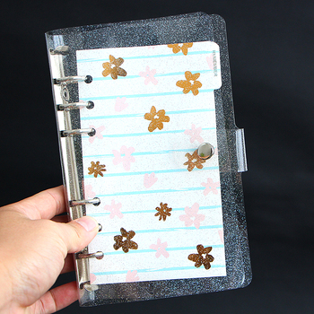 Shiny A5 A6 Loose-leaf Notepad Cover 6 Holes Replaces Shell Planner Loose Leaf Binder Notebook