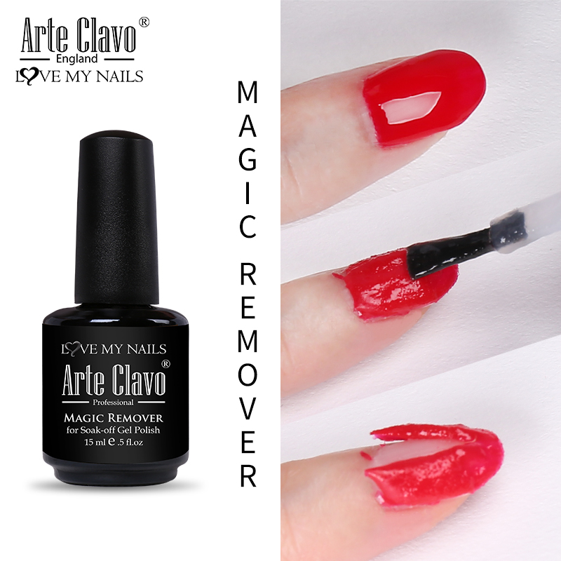 Arte Clavo 15ML Magic Remover Nail Polish Remover All For Manicure Healthy Nail Cleaner Degreaser UV Gel Nail Polish Remover
