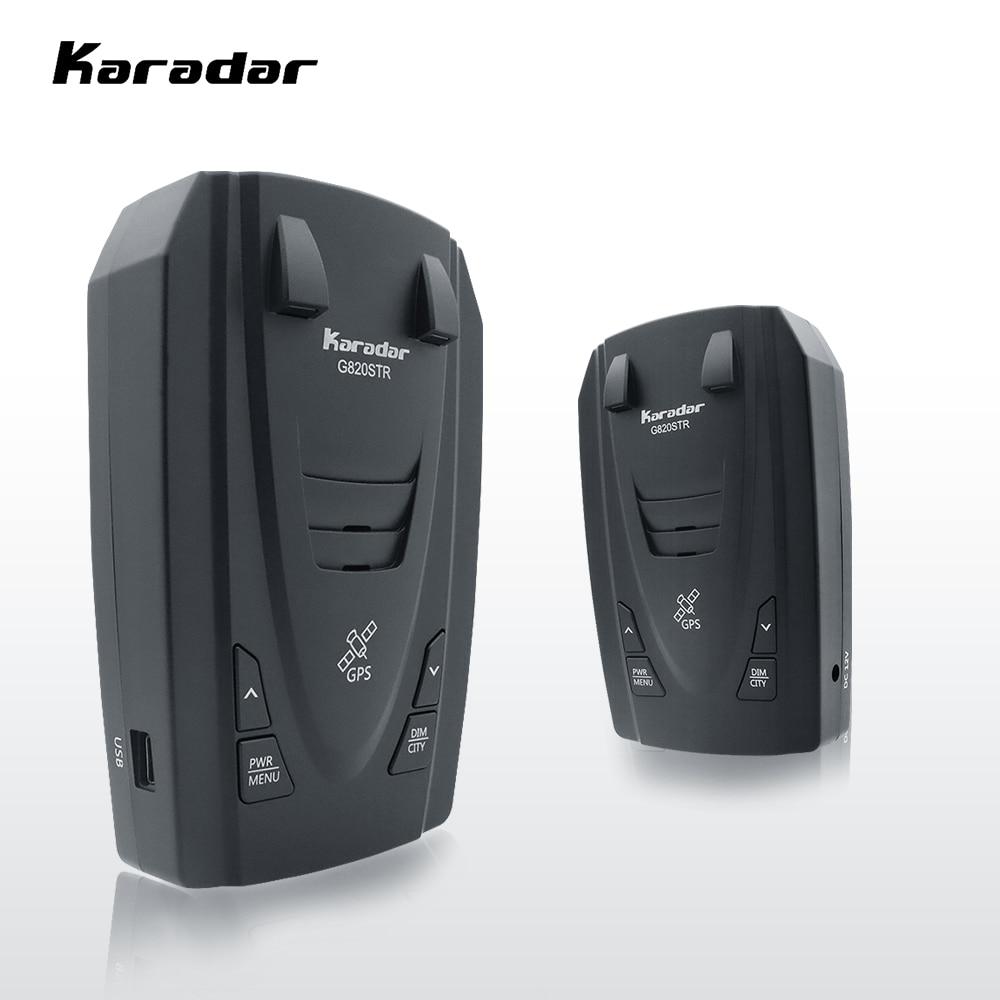 Karadar Detectors G820 Radar Detectors Led 2 in 1 Radar Detector for Russia with GPS Car Anti Radars Police Speed Auto X CT K La(China)