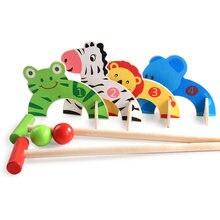 Деревянные детские игрушки развивающие спортивные ворота игра