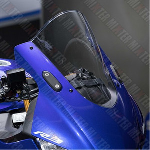 Image 2 - Motorcycle Racing Double Bubble Windshield WindScreen Visor Viser Deflector For YZF R3 V2 2019 2020 YZF R25 19 20 YZF R3 R25