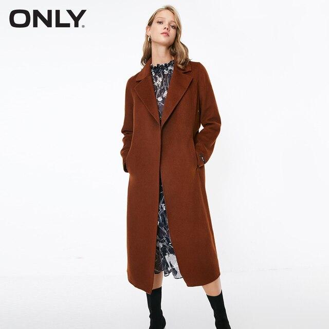SOLO delle donne di autunno nuovo di lana doppio fronte di lana coat