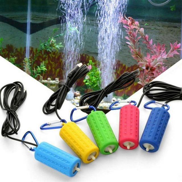 1PC Oxygen Air Pump Aquarium Fish Tank Portable USB Mini Aquatic Terrarium Mute Energy Saving Supplies Aeration Fish Home 1