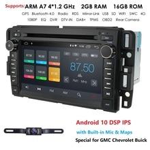 Radio multimedia con GPS para coche, radio con reproductor DVD, android, 2Din, para GMC, Chevrolet, Chevy, Yukon, taaze, Sierra, Acadia