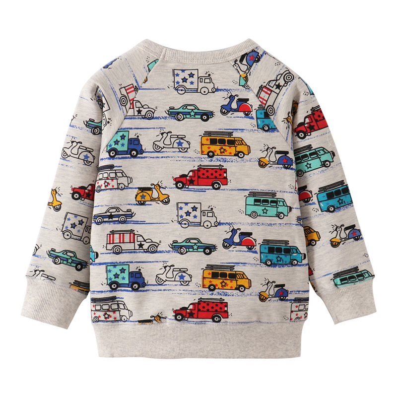 SAILEROAD Cartoon Car Print Boys Sweatshirts for Kids Clothes Autumn Children Hoodies Clothing 2021 Kids Girls Christmas Costume 2