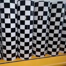 Film d'emballage en vinyle autocollant de Camouflage à carreaux, noir et blanc mat, avec dégagement d'air, taille 50x20/300/500 CM, DIY bricolage