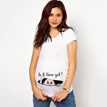 Футболки для беременных женщин размера плюс; летние футболки для беременных; повседневная одежда с коротким рукавом для беременных; забавная одежда