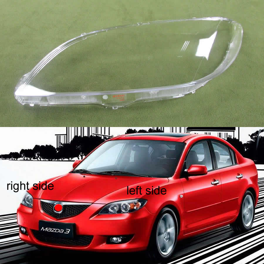 Headlight Shell Lampshade Headlamp Cover Lamp Headlights Glass Shell For Mazda 3 M3 (sedan) 2006 2007 2008 2009 2010 2011 2012