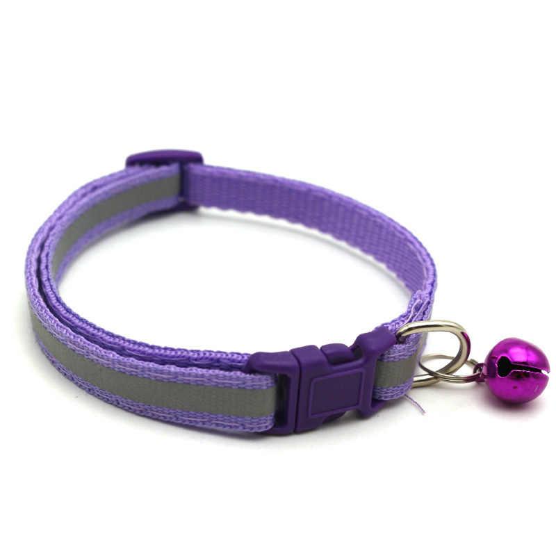 Pet yaka yansıtıcı pet çan yaka ayarlanabilir boyutu uygun kediler ve küçük köpekler için pet malzemeleri