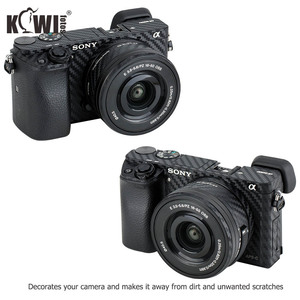 Image 2 - KIWIFOTOS Kamera Körper Abdeckung Carbon Faser Film Kit Für Sony A6000 + 16 50mm Objektiv Haut Anti  scratch Anti Slide Kameras 3M Aufkleber