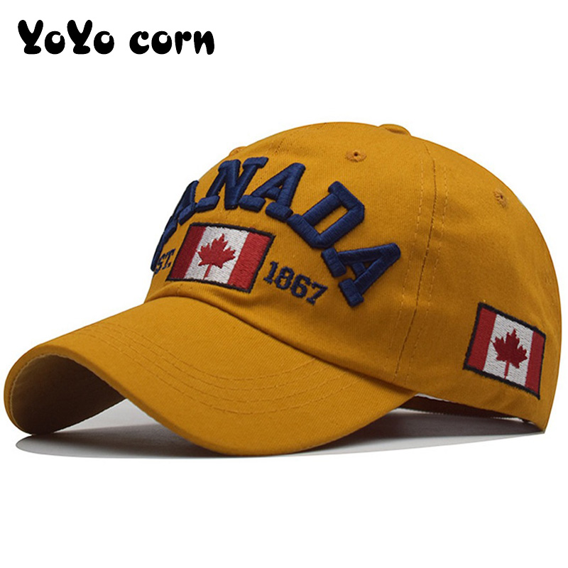 I love canada New Washed Cotton Baseball Cap Snapback Hat For Men Women Dad Hat Embroidery Casual hats Casquette Hip Hop Caps