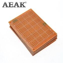 Aeak 10 pces pcb 5*7 cm 5*7 diy protótipo de papel pcb experiência universal matriz placa de circuito 5x7 cm