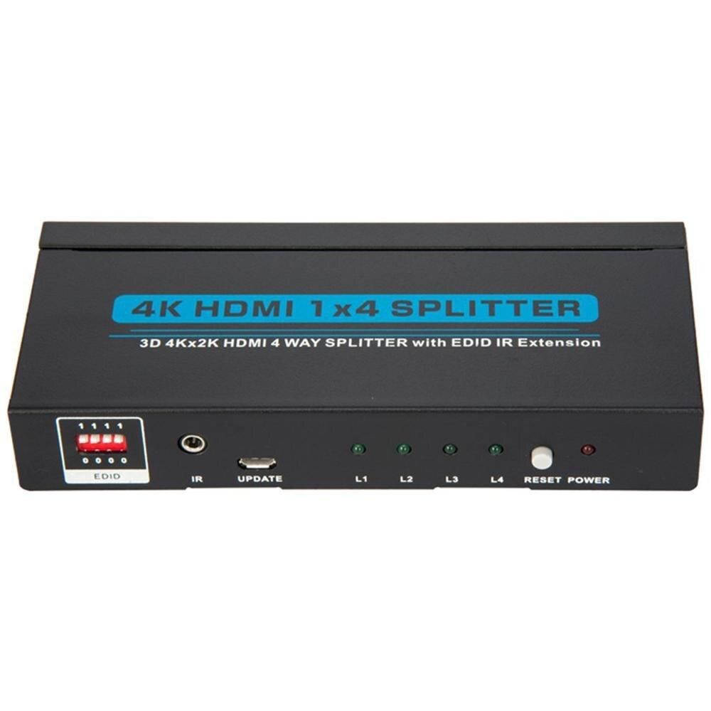 Répartiteur HDMI 4K 1x4 1 en 4 amplificateur de signal de sortie puissance 1080P 3D 1x4 HDMI convertisseur de répartiteur Audio