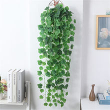 90cm Artificial Plant Vine Leaves Green Dill Sweet Potato Grape Begonia Watermelon Wall Hanging Fake Flower DIY Wall Decoration