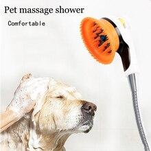 Regen Dusche Kopf Für Hunde Waschen Katze Haustier Dusche Sprayer Silica Gel Hund Bad Waschen Düse Massager Kamm Pinsel Pet zubehör WK0001