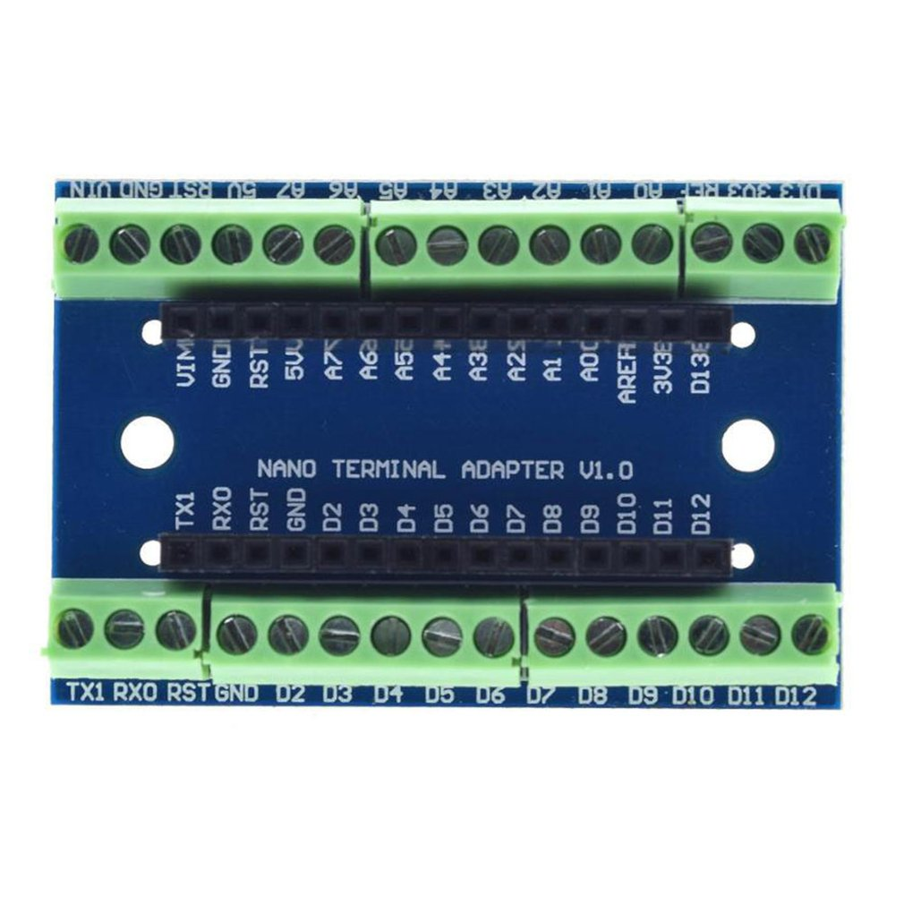 HOT Nano Terminal Adapter for Arduino Nano V3.0 AVR ATMEGA328P-AU Module Board